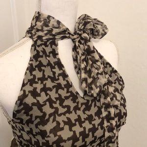 Zara Silk Tie Neck Blouse